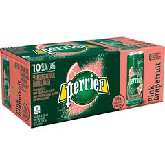 Perrier Sparkling Mineral Water - Pink Grapefruit Flavor - 8.45 fl oz (250 mL) - 30 / Carton