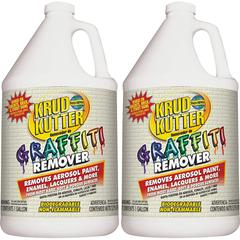 Krud Kutter Graffiti Remover - Liquid - 1 gal (128 fl oz) - 2 / Carton - Clear