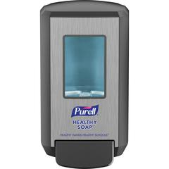 PURELL® Education CS4 Soap Dispenser - Manual - 1.32 quart Capacity - Site Window, Locking Mechanism, Durable, Wall Mountable - Graphite - 1Each