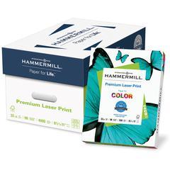 "Hammermill Laser Print Laser Print Laser Paper - Letter - 8 1/2"" x 11"" - 32 lb Basis Weight - Ultra Smooth - 98 Brightness - 4000 / Carton - White"