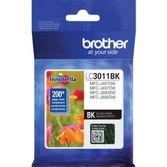 Brother LC3011BK Original Ink Cartridge Single Pack - Black - Inkjet - Standard Yield - 200 Pages - 1 Pack