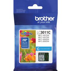 Brother LC3011C Original Ink Cartridge Single Pack - Cyan - Inkjet - Standard Yield - 200 Pages - 1 Pack