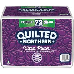 Quilted Northern UltraPlush Tissue - 3 Ply - White - Plush - Quilted, Long Lasting, Soft, Absorbent, Sewer-safe, Septic Safe, Biodegradable, Embossed, Comfortable - For Toilet - 36 Rolls Per Pack - 55