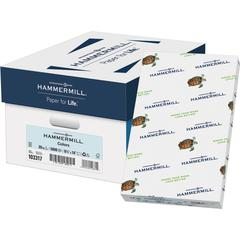 """Hammermill Copy & Multipurpose Paper - Legal - 8 1/2"""" x 14"""" - 20 lb Basis Weight - Recycled - 30% Recycled Content - 5000 / Carton - Blue"""