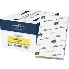 """Hammermill Copy & Multipurpose Paper - Legal - 8 1/2"""" x 14"""" - 20 lb Basis Weight - Recycled - 30% Recycled Content - 5000 / Carton - Canary"""