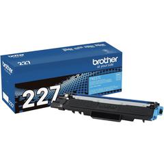 Brother Genuine TN-227C High Yield Cyan Toner Cartridge - Laser - High Yield - 2300 Pages