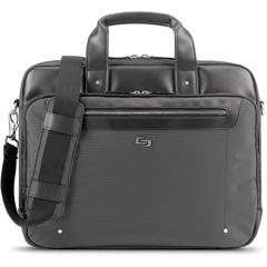 "Solo Gramercy Travel/Luggage Case (Briefcase) for 15.6"" Notebook - Gray - Bump Resistant Interior, Scratch Resistant Interior - Handle, Shoulder Strap - 13.8"" Height x 17.1"" Width x 3.5"" Depth"