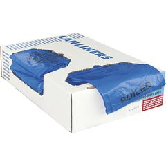 "Heritage 1.3 mil Color-coded Can Liner - 30 gal - 30"" Width x 43"" Length x 1.30 mil (33 Micron) Thickness - Low Density - Blue - 200/Carton - Can - Commercial, Healthcare"