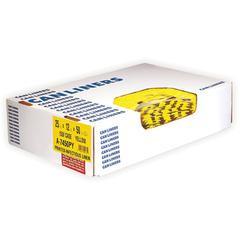 "Heritage 1.3 mil Color-coded Can Liner - 30 gal - 30"" Width x 43"" Length x 1.30 mil (33 Micron) Thickness - Low Density - Yellow - 200/Carton - Can - Commercial, Healthcare"
