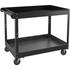 "Lorell Utility Cart - 2 Shelf - 400 lb Capacity - Steel - 36"" Length x 24"" Width x 32"" Height - Black"