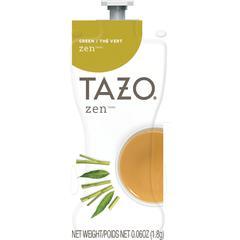 Mars Drinks Tazo Zen Green Tea Freshpack - Green Tea - Lemongrass, Spearmint - 0.06 oz - 80 / Carton
