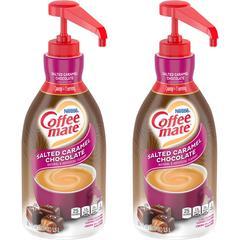 Coffee-Mate Salted Caramel Chocolate Creamer - Salted Caramel Chocolate Flavor - 50.70 fl oz (1.50 L) - 2/CartonBottle - 300 Serving