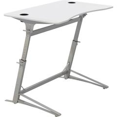 "Safco Verve Standing Desk - Laminated, White - 42"" Height x 47.25"" Width x 31.75"" Depth - Assembly Required"
