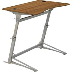 "Safco Verve Standing Desk - Laminated, Walnut - 42"" Height x 47.25"" Width x 31.75"" Depth - Assembly Required"
