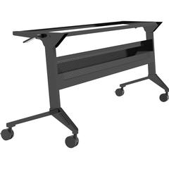 "Safco Flip-N-Go Black Training Table Base - 28"" Height - Assembly Required"