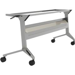 "Safco Flip-N-Go Silver Training Table Base - 28"" Height - Assembly Required"
