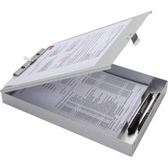 "Business Source Storage Clipboard - Storage for 50 x Document - 8 1/2"" x 11"" - Silver - 1 Each"