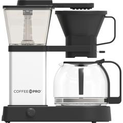 Coffee Pro 8-cup Pourover Coffee Brewer - Programmable - 8 Cup(s) - Multi-serve - Black, Silver