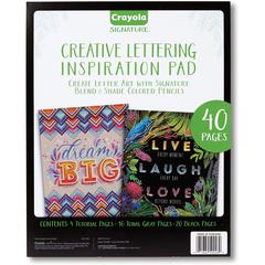 Crayola Creative Lettering Inspiration Pad - 40 Pages - Black, Gray Paper - 1Each