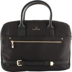 "Celine Dion Carrying Case (Briefcase) Travel Essential - Black, Gold - Nylon - Shoulder Strap, Belt - 10"" Height x 3"" Width x 14"" Depth"