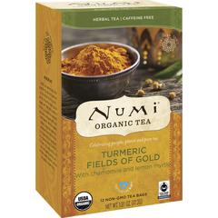 Numi Turmeric Organic Tea - Turmeric, Verbena, Lemon, Dried Lime - 1.3 oz - Organic - 12 / Box