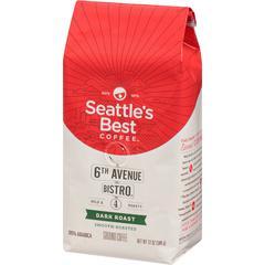 Seattle's Best Coffee 6th Avenue Bistro Medium-Dark Rich Whole Bean Coffee - Level 4 - Signature Blend - Medium/Dark - 12 oz - 1 Each