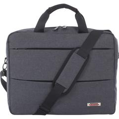 "Swiss Mobility Carrying Case (Briefcase) for 15.6"" Notebook - Gray - Bump Resistant Interior, Scratch Resistant Interior - Handle - 16.5"" Height x 3.5"" Width x 13.5"" Depth"