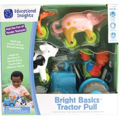Educational Insights Bright Basics Tractor Pull - Theme/Subject: Animal - Skill Learning: Train, Sorting, Size Differentiation, Construction, Mathematics, Vocabulary, Tactile Discrimination, Imaginati