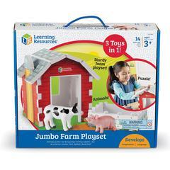 Learning Resources Jumbo Farm Playset - Theme/Subject: Animal - Skill Learning: Farm, Game, Eye-hand Coordination, Fine Motor, Imagination, Visual, Tactile Stimulation, Problem Solving, Language Devel