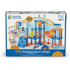 Learning Resources City Engineering & Design Building Set - Theme/Subject: Learning - Skill Learning: STEM, Logic, Problem Solving, Basic Engineering Principles, Tactile Stimulation, Visual, Direction
