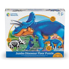Learning Resources Jumbo Dinosaur Floor Puzzle - Triceratops - Theme/Subject: Animal - 3+1-in-120 Piece