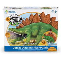 Learning Resources Jumbo Dinosaur Floor Puzzle - Stegosaurus - Theme/Subject: Animal - 3+1-in-120 Piece