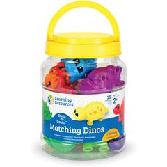 Learning Resources Snap-n-Learn Matching Dinos - Theme/Subject: Learning - Skill Learning: Visual, Tactile Stimulation, Shape, Matching, Problem Solving, Color Identification, Fine Motor, Motor Planni