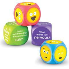 Learning Resources Soft Foam Emoji Cubes - Theme/Subject: Learning - Skill Learning: Social Development, Feeling, Emotion, Language Development, Vocabulary, Thinking, Communication