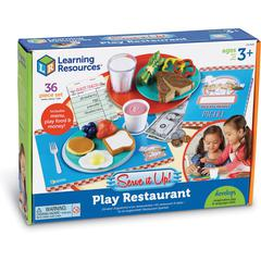 Learning Resources Serve It Up! Play Restaurant - Theme/Subject: Learning - Skill Learning: Imagination, Food, Pretend Play - 35 Pieces
