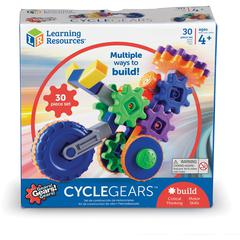 Learning Resources Gears! Cycle Gears Building Kit - Theme/Subject: Learning - Skill Learning: Building, STEM, Critical Thinking, Creativity, Fine Motor, Cause & Effect, Eye-hand Coordination, Problem