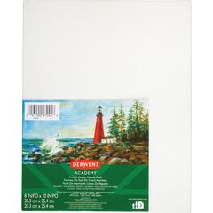 """Mead Primed Cotton Canvas Panel - Art - 10"""" x 8""""0.4"""" - 3 / Pack - White - Cotton Canvas"""