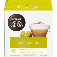 Nescafe Dolce Gusto Cappuccino Coffee - Compatible with Majesto Automatic Coffee Machine - Cappuccino - 16 / Box