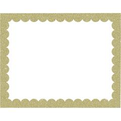"Pacon Glitter Frame Poster Board - School, Home, Office - 22"" x 28""0"" - 25 / Carton - Gold"