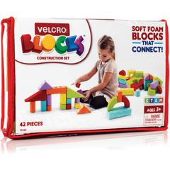 VELCRO® Brand Foam Blocks Construction Set - Theme/Subject: Learning - Skill Learning: Construction, Shape, Color, Imagination, Creativity - 42 Pieces
