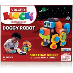 VELCRO® Brand Soft Blocks Doggy Robot Set - Theme/Subject: Learning - Skill Learning: Robot, Construction, Imagination, Creativity, Problem Solving, Building - 35 Pieces