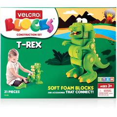 VELCRO® Brand Soft Blocks T-Rex Construction Set - Theme/Subject: Learning - Skill Learning: Robot, Construction, Imagination, Building, Creativity, Problem Solving - 31 Pieces