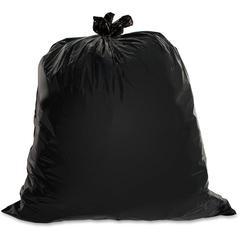 "Genuine Joe Heavy-Duty Trash Can Liners - 60 gal - 39"" Width x 56"" Length x 1.50 mil (38 Micron) Thickness - Low Density - Black - Plastic Resin - 4800/Pallet - Office Waste, Can, Debris"
