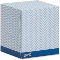 Genuine Joe Cube Box Facial Tissue - 2 Ply - Interfolded - White - Soft, Comfortable, Smooth - For Face - 85 Sheets Per Box - 1728 / Pallet