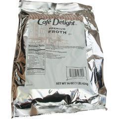 Cafe Delight Frothy Topping - 1 lb (16 oz) Bag - 12/Carton