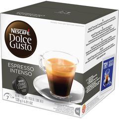 Nescafe Dolce Gusto Espresso Intenso Coffee Pods Pod - Compatible with Majesto Automatic Coffee Machine - Caffeinated - Espresso, Intenso, Arabica, Robusta, Spicy, Cherry, Almond - Dark - 76 oz Per Bo