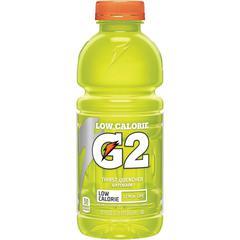 Gatorade Low Calorie G2 Sports Drink - Ready-to-Drink - Lemon Lime Flavor - 20 fl oz (591 mL) - 24 / Carton