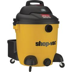 """Shop-Vac Contractor Canister Vacuum Cleaner - 4101.35 W Motor - 324.74 W Air Watts - 12 gal - Hose, Filter, Floor Nozzle, Extension Wand, Claw Nozzle, Crevice Tool - 1.50"""" Cleaning Width - Wet Surface"""