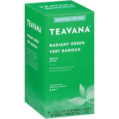 Teavana Radiant Green Tea - Green Tea - Radiant Green, Sweet - 0.07 oz Per Bag - 24 Teabag - 24 / Box