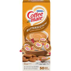 Coffee-Mate Butterscotch Creamer - Butterscotch Flavor - 0.38 fl oz (11 mL) - 50/Box
